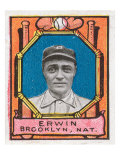 Brooklyn, NY, Brooklyn Dodgers, Tex Erwin, Baseball Card Posters by  Lantern Press