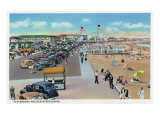 Hampton Beach, New Hampshire, View of Ocean Blvd and the Playground Prints by  Lantern Press