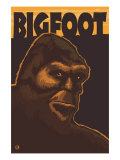 Bigfoot Face Art by  Lantern Press