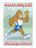 Eugene, Oregon, Bigfoot Jogging, Track City USA Posters by  Lantern Press