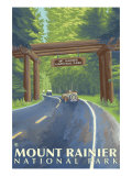 Mount Rainier, Nisqually Entrance Prints by  Lantern Press