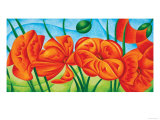 Poppies VI Giclee Print by Val Andre