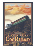 Pikes Peak, Colorado, Pikes Peak Cog Railroad Print