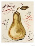 Poire I Reproduction proc&#233;d&#233; gicl&#233;e par Susan Gillette