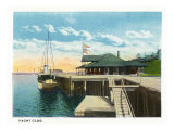 Camden, Maine, View of the Yacht Club Poster by  Lantern Press