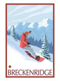 Breckenridge, Colorado, Snowboarder Scene Arte por  Lantern Press