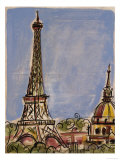 Eiffel Tower Giclee Print by Susan Gillette
