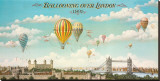 Ballooning over London Stretched Canvas Print by Isiah and Benjamin Lane
