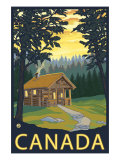 Canada, Cabin Scene Prints by  Lantern Press