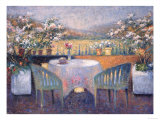 Country Dining Giclee Print by Louisa Lee