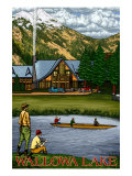 Wallowa Lake, Oregon, View of the Lodge and Lake Posters by  Lantern Press