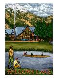 Wallowa Lake, Oregon, View of the Lodge and Lake Posters