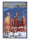Bryce National Park, Utah, Winter Scene Art