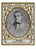 Boston, MA, Boston Red Sox, Tubby Spencer, Baseball Card Print