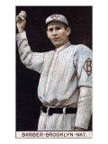 Brooklyn, NY, Brooklyn Dodgers, Eros Barger, Baseball Card Print