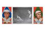 Boston, MA, Boston Red Sox, Tris Speaker, Clyde Engle, Baseball Card Affiche