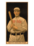Boston, MA, Boston Red Sox, Chas. Wagner, Baseball Card, no.3 Poster