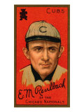 Chicago, IL, Chicago Cubs, Edward M. Reulbach, Baseball Card Posters by  Lantern Press
