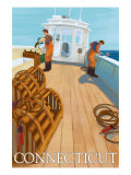 Connecticut, Lobster Fishing Boat Scene Posters
