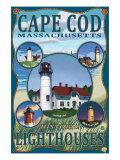 Cape Cod, Massachusetts, Lighthouse Collage Art