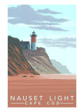 Cape Cod, Massachusetts, Nauset Lighthouse Poster by  Lantern Press