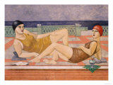 The Bathers Giclee Print by Susan Conti