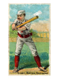 Baltimore, MD, Baltimore Orioles, Oyster Burns, Baseball Card Posters