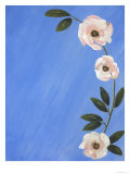Blossoms on Blue Lámina giclée por Hampton Hall