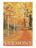 Vermont, Fall Colors Scene Art by  Lantern Press