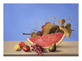 Watermelon Still Life Lámina giclée por Hampton Hall