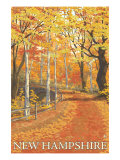 New Hampshire, Fall Colors Scene Prints by  Lantern Press