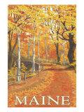 Maine, Fall Colors Scene Prints