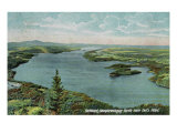 Lake Memphremagog, Vermont, Northern Aerial View of Lake from Owl's Head Prints