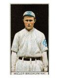 Brooklyn, NY, Brooklyn Dodgers, Otto Miller, Baseball Card Poster
