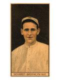 Brooklyn, NY, Brooklyn Dodgers, Wilbur Schardt, Baseball Card Print