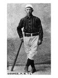 New York City, NY, New York Giants, Bill George, Baseball Card Posters