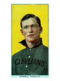 Cleveland, OH, Cleveland Naps, George Stovall, Baseball Card Posters by  Lantern Press