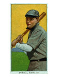 Cleveland, OH, Cleveland Naps, George Stovall, Baseball Card Print