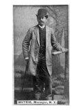 New York City, NY, New York Giants, Jim Mutrie, Baseball Card Print