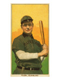 Cleveland, OH, Cleveland Naps, Elmer Flick, Baseball Card Posters by  Lantern Press