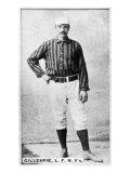 New York City, NY, New York Giants, Pete Gillespie, Baseball Card Poster