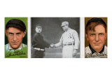 New York City, NY, New York Giants, Arthur Fletcher, C. Mathewson, Baseball Card Posters