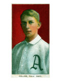 Philadelphia, PA, Philadelphia Athletics, Eddie Collins, Baseball Card Posters by  Lantern Press