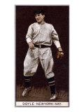 New York City, NY, New York Giants, Lawrence Doyle, Baseball Card Posters