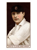 Cleveland, OH, Cleveland Naps, Harry Davis, Baseball Card Poster