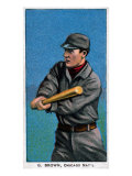 Chicago, IL, Chicago Cubs, G. Brown, Baseball Card Prints by  Lantern Press