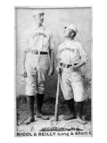Cincinnati, OH, Cincinnati Red Stockings, Hugh Nicol, Long John Reilly, Baseball Card Print