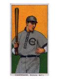 Chicago, IL, Chicago Cubs, Heinie Zimmerman, Baseball Card Art by  Lantern Press