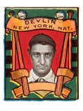 New York City, NY, New York Giants, Art Devlin, Baseball Card Posters by  Lantern Press