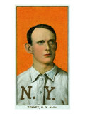 New York City, NY, New York Giants, Fred Tenney, Baseball Card Posters by  Lantern Press